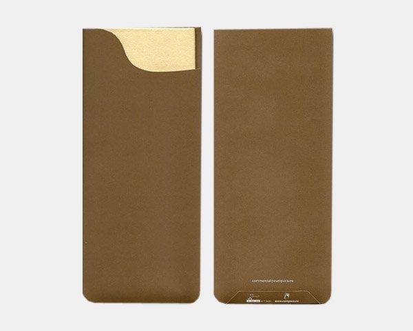 Pochette à couverts Chocolat-Serviette 40x40 cm Champagne