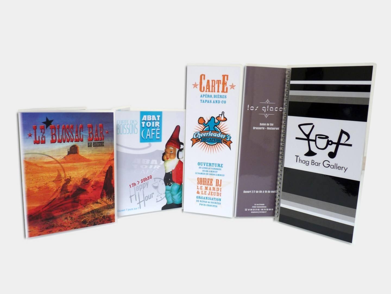 MenuClassik Carte Traditionnelle Plastifie Papier Plastification